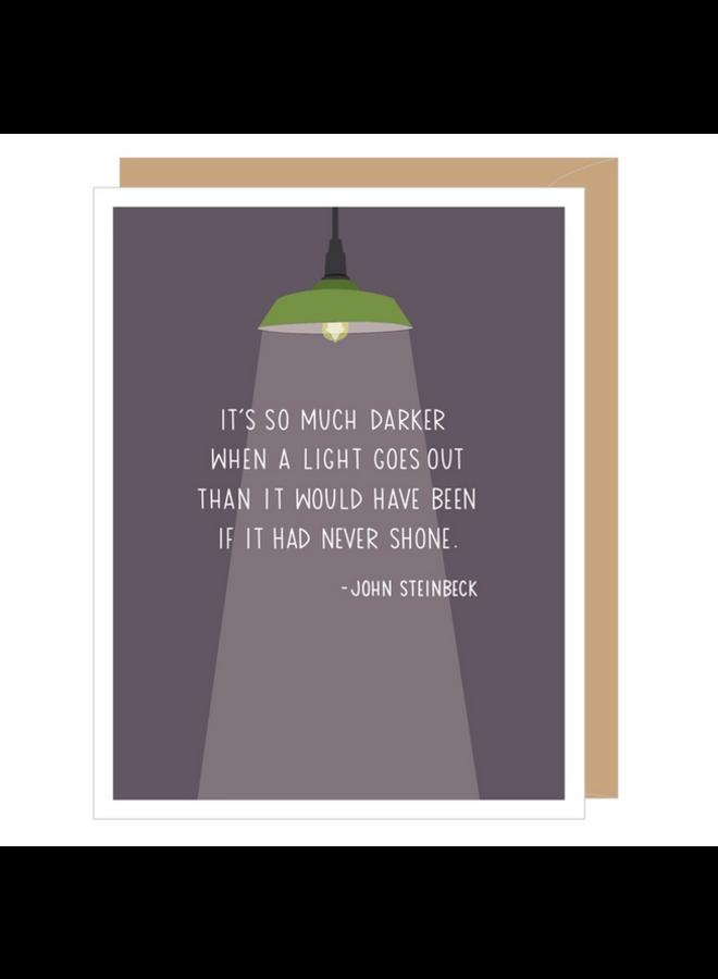 John Steinbeck Sympathy Card