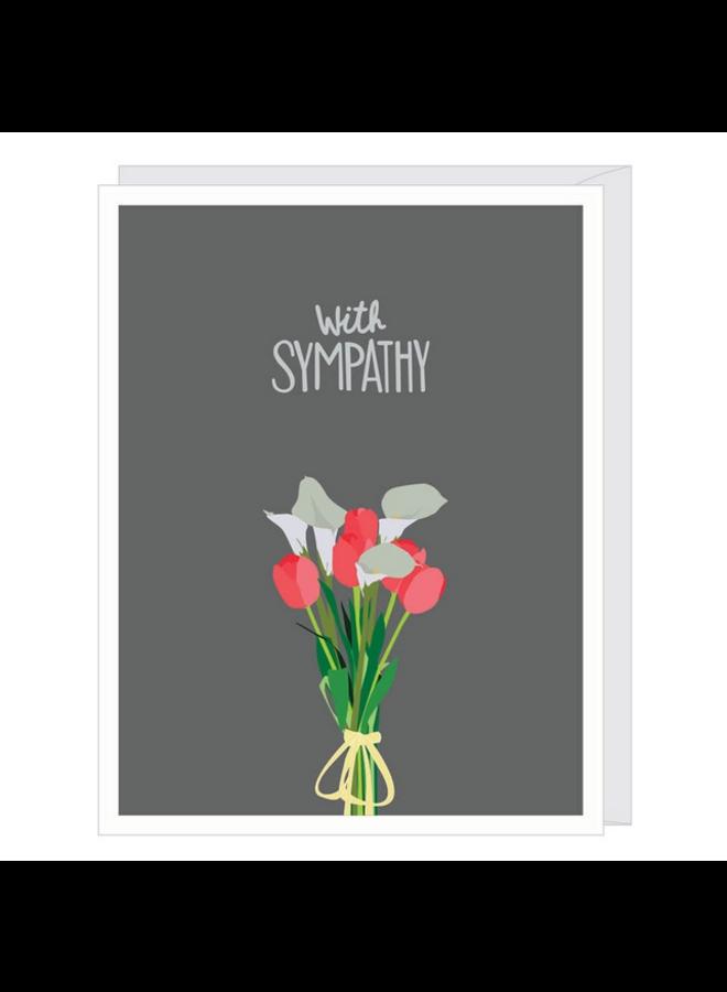 Lily & Tulip Sympathy Card