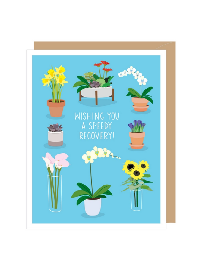 Potted Flower Get Well Card