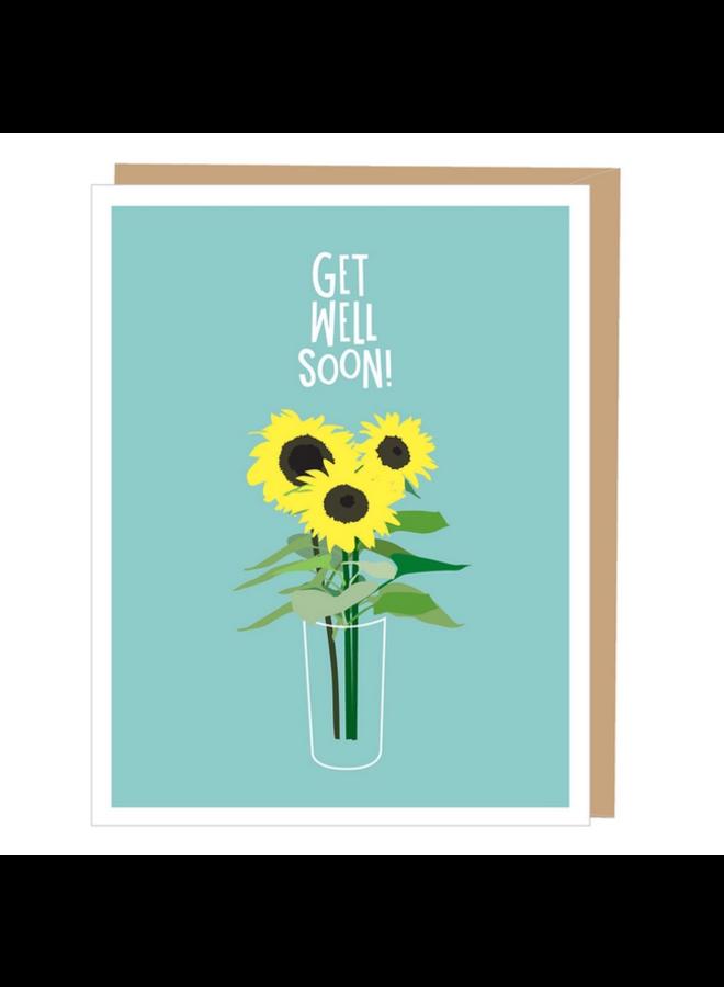 Sunflowers Get Well Card