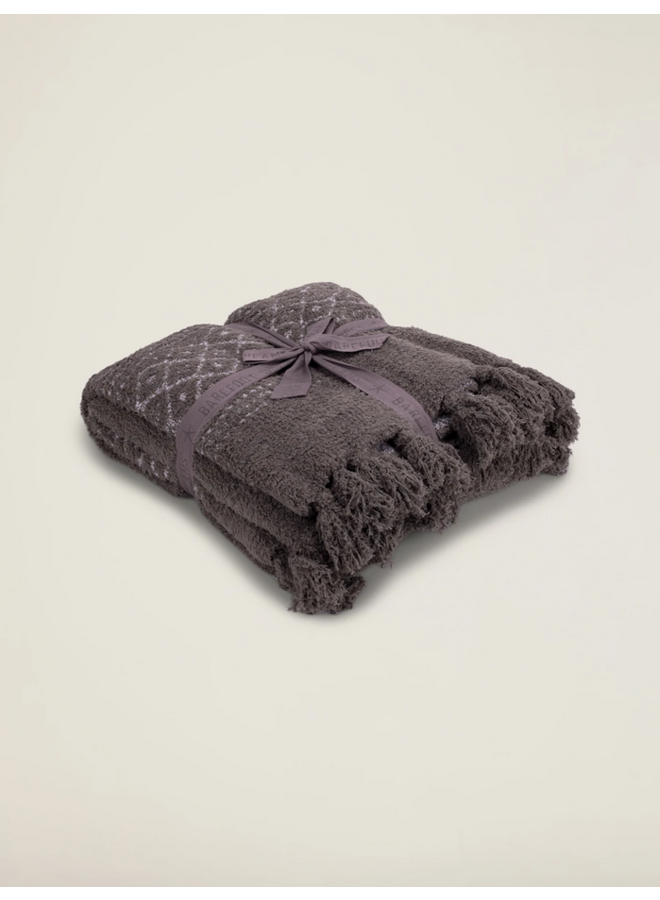 CozyChic Luxe Casa Throw- Charcoal