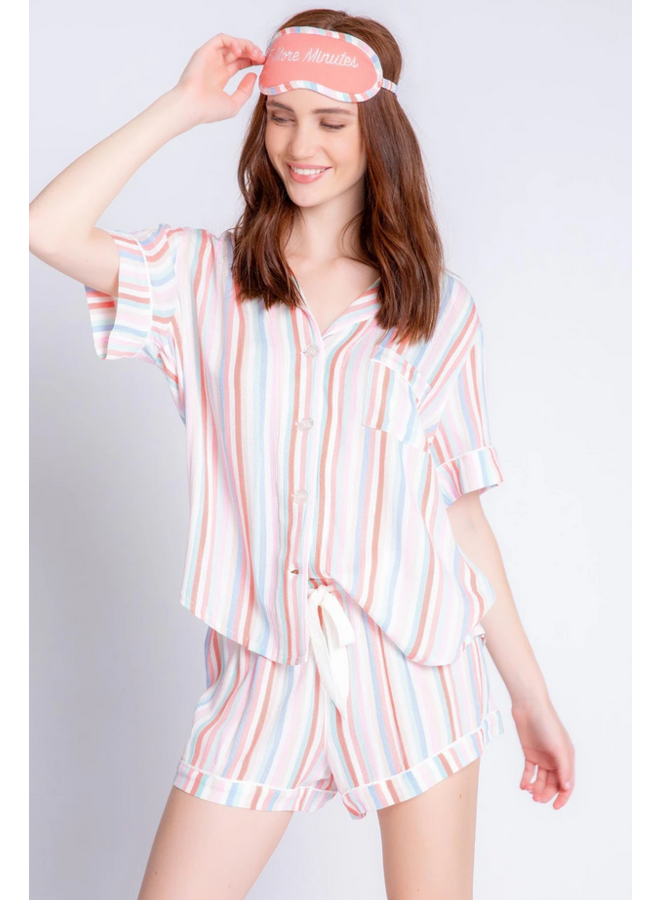Saturday Morning Stripe PJ Set