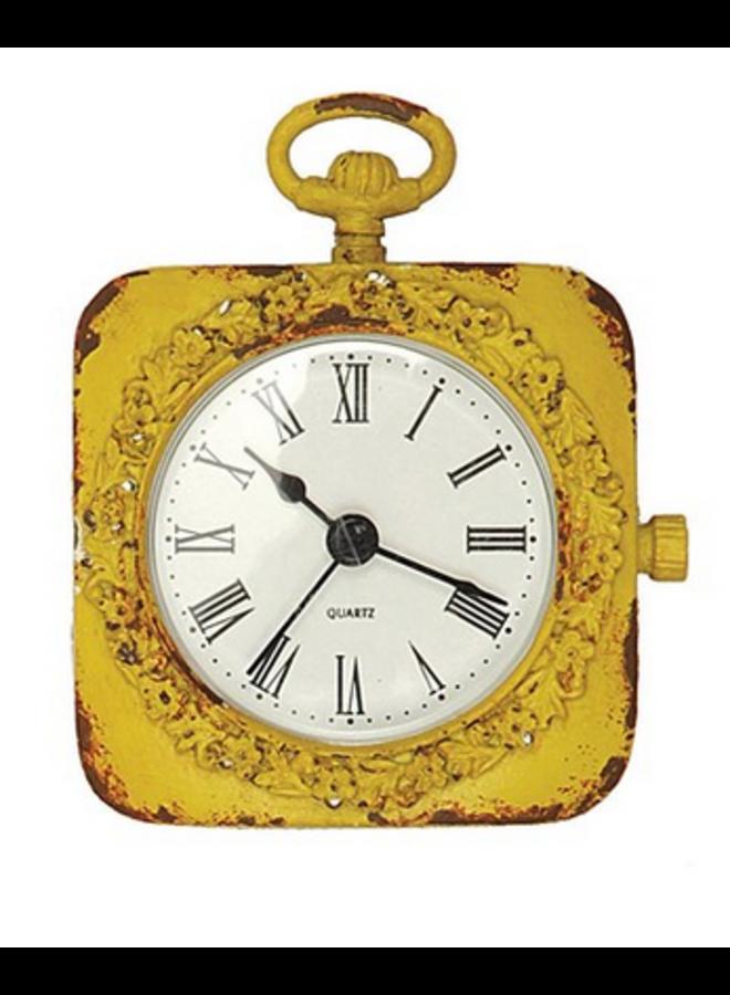Pewter Mantel Clock