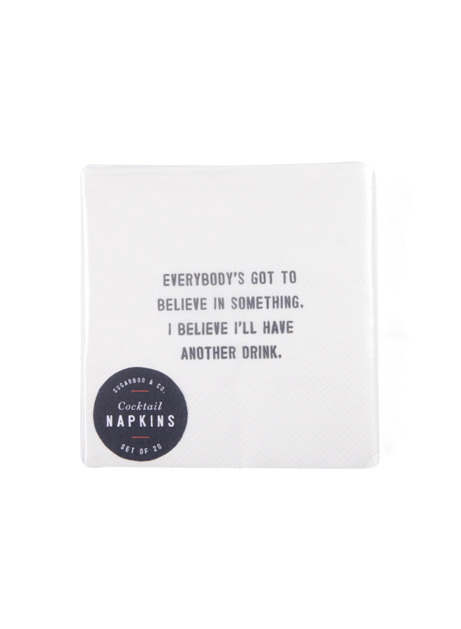 Cocktail Napkins with Saying