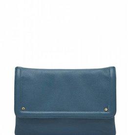 Handbag Butler Chargeable Vegan Leather Flap Wristlet-Light Blue