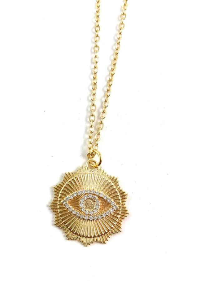 Bowie Midlength Charm Necklaces- Evil Eye