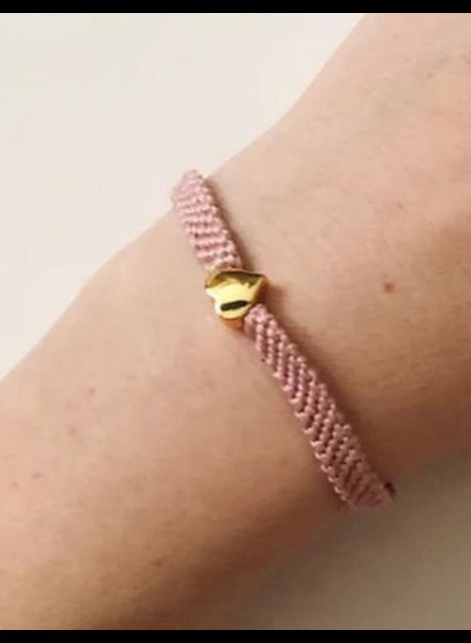 Friendship Heart Bracelet - Mauve Adult