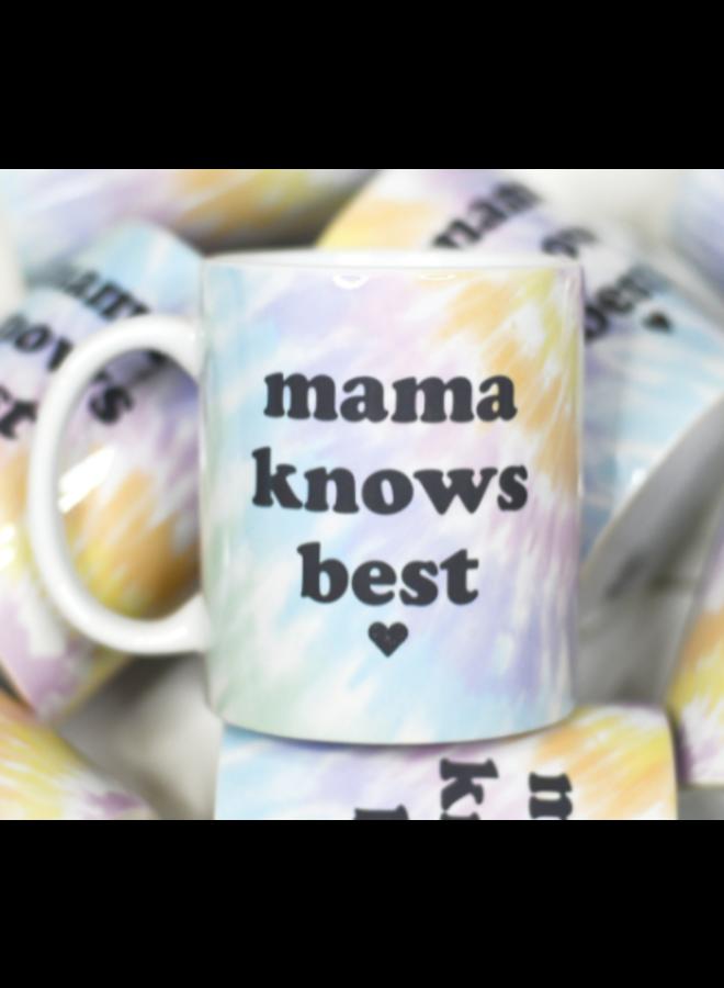 Mama Knows Best Tie Dye Ceramic Mug
