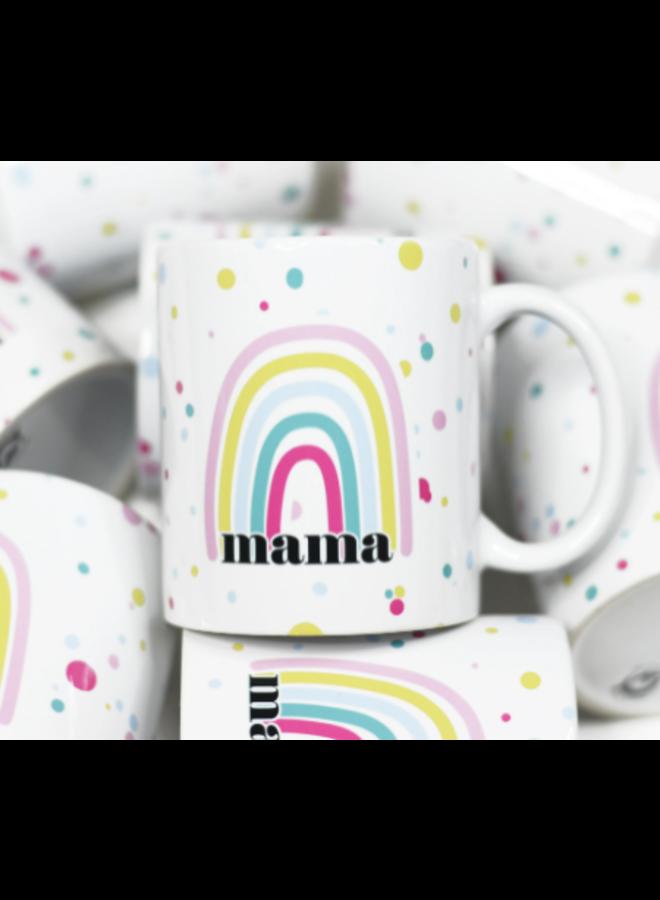 Mama Rainbow Ceramic Mug