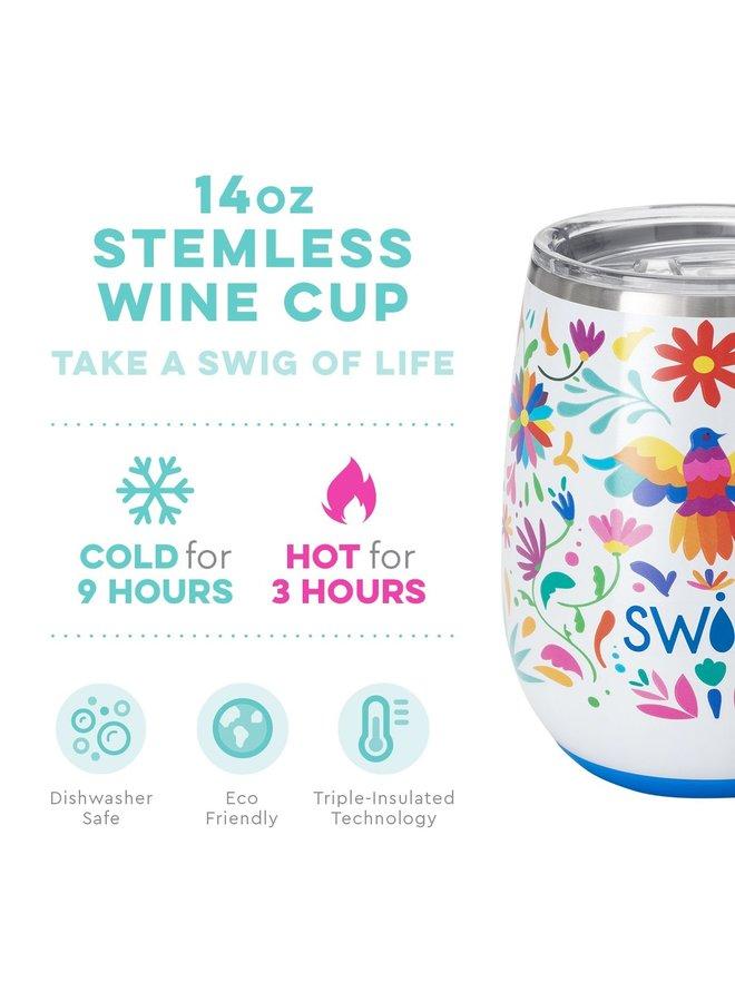 14oz Stemless Wine Cup- Viva Fiesta