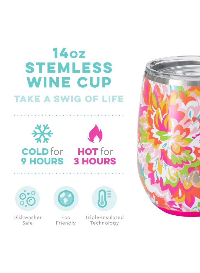 14oz Stemless Wine Cup- Hawaiian Punch
