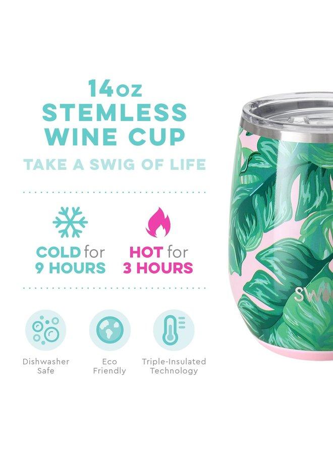 14oz Stemless Wine Cup - Palm Springs