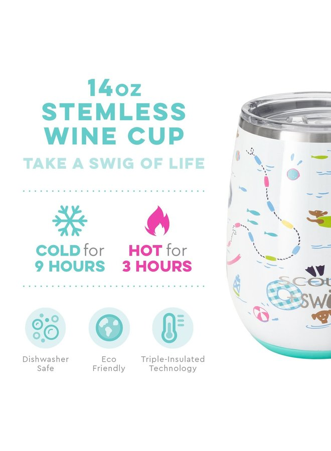 14oz Stemless Cup SCOUT Float