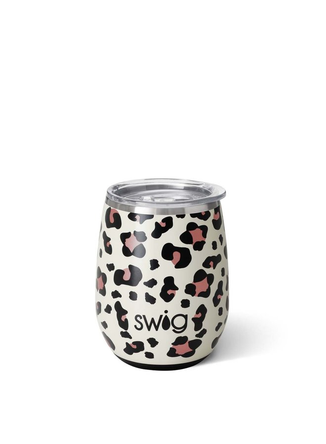 14oz Stemless Wine - Luxy Leopard