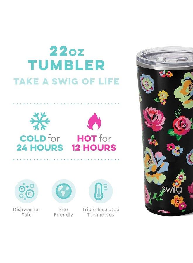 22oz Tumbler - Fleur Noir