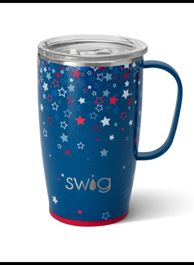 18oz  Travel Mug with Handle- Star Burst
