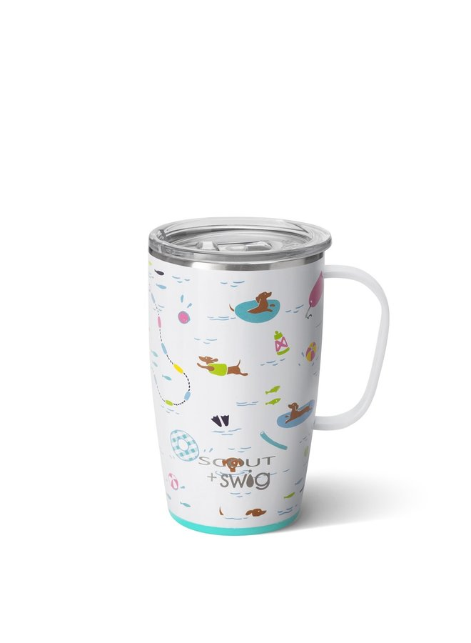18oz  Travel Mug with Handle- SCOUT Float Couture