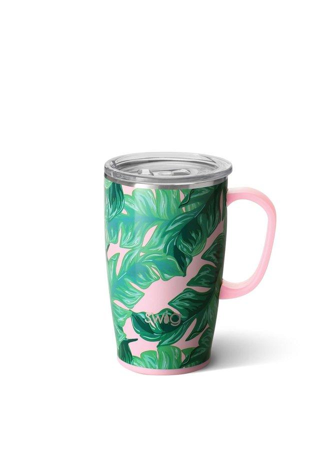 18oz  Travel Mug with Handle- Palm Springs