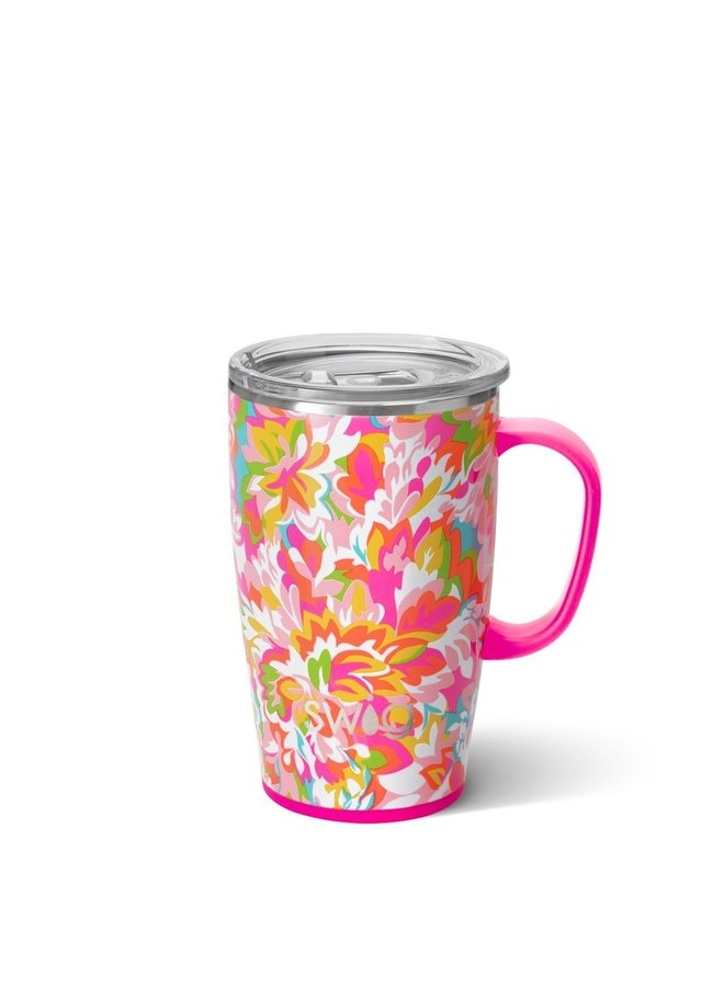 18oz  Travel Mug with Handle- Hawaiian Punch