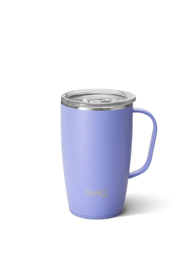 18oz  Travel Mug with Handle- Hydrandga