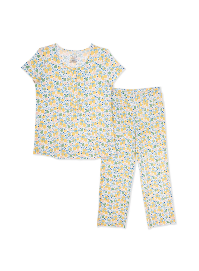 Citrus Bloom Magnetic Nursing Pajama Set