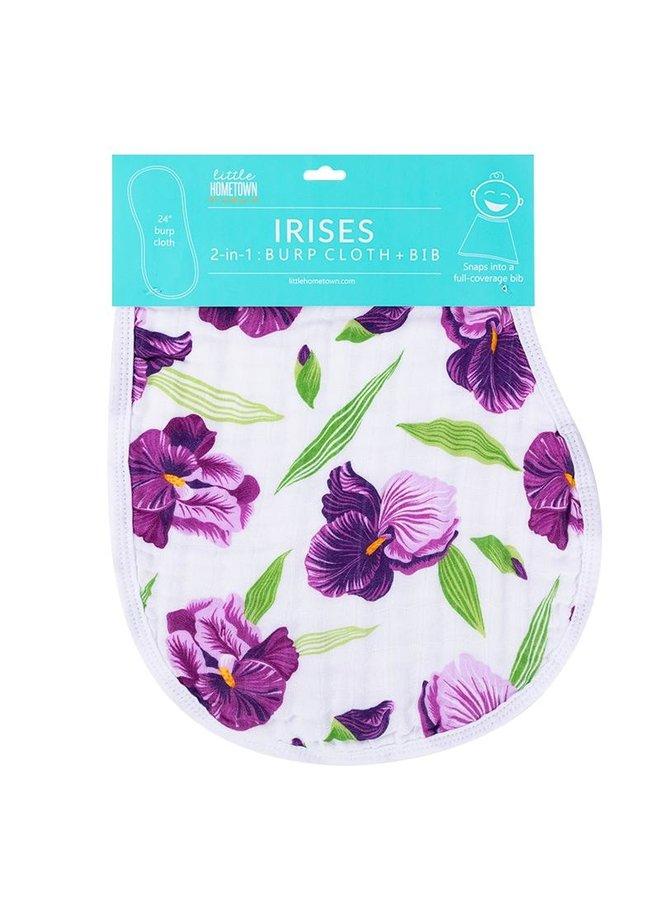 Iris Burp Cloth and Bib