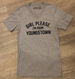 Pop's Printed Apparel Girl Please I'm From Youngstown V-Neck Tee