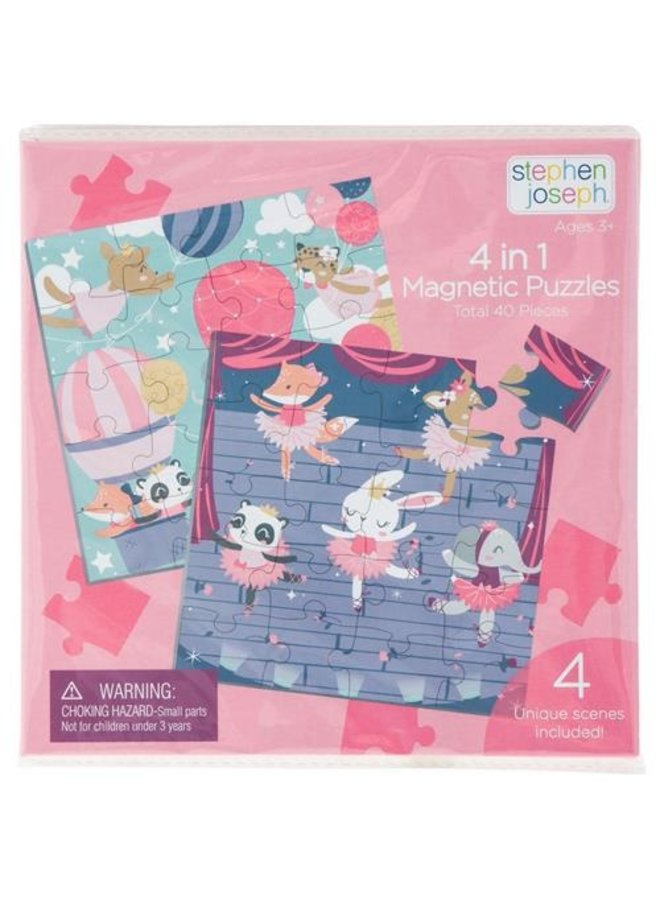 4 in 1 Magnetic Puzzle Book Girl