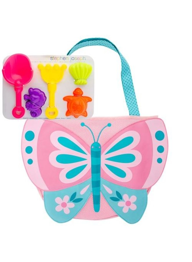 Beach Tote w/ Toys- Butterfly