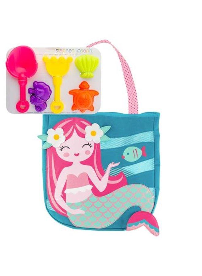 Beach Tote w/ Toys- Mermaid