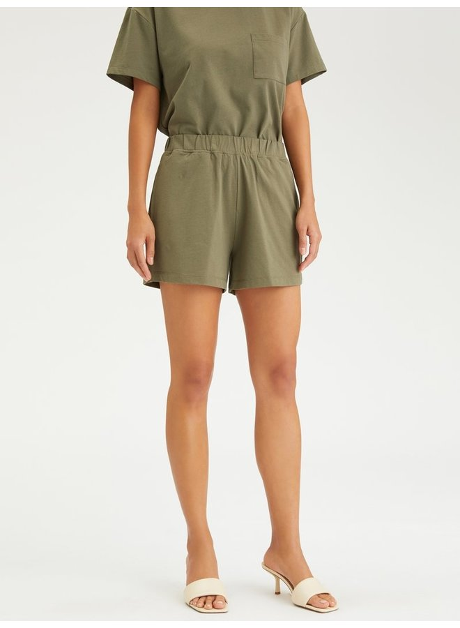 Essential Knit Short - Organic Green