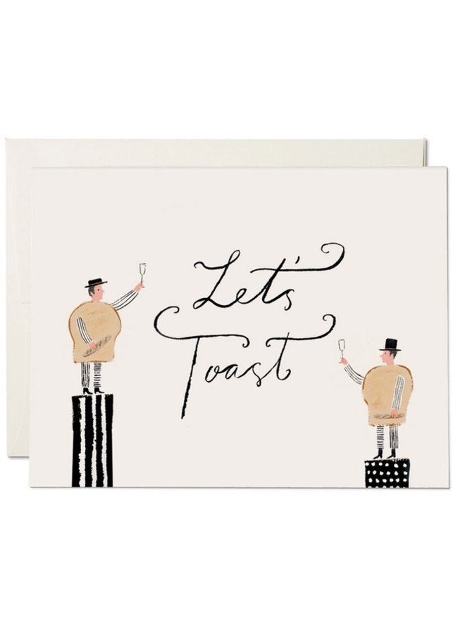 Let's Toast Wedding Card