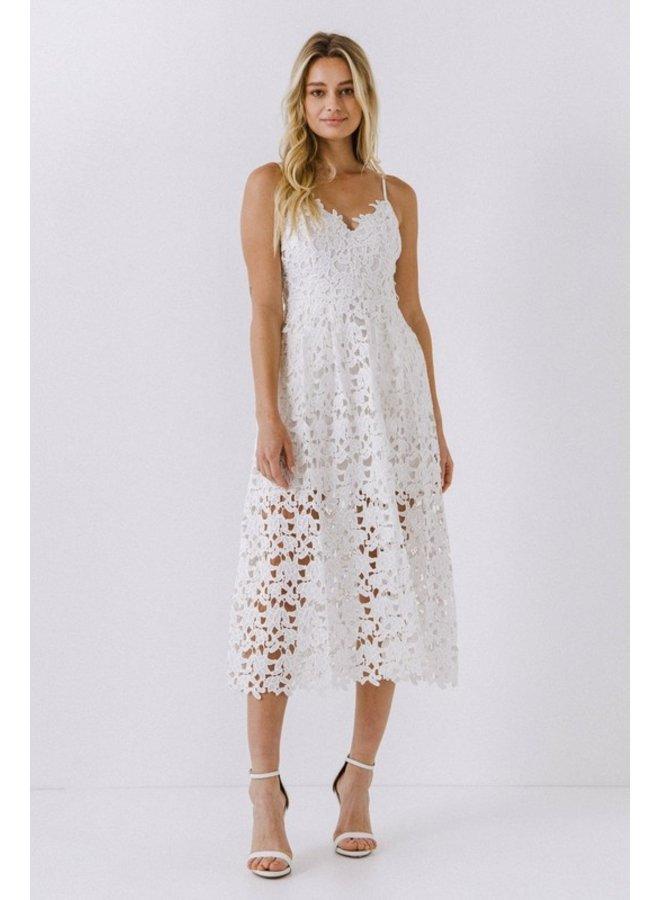Lace Cami Midi Dress