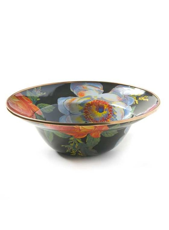 Flower Market Breakfast Bowl-Black