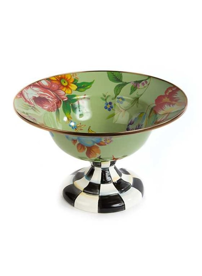 Flower Market Large Compote-Green