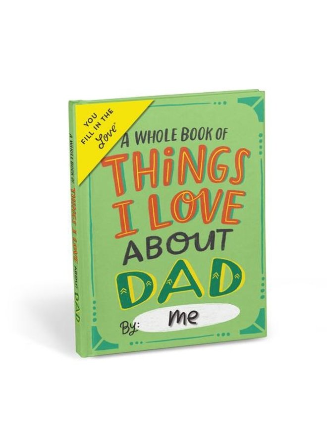 About Dad Fill in the Blank Love Journal