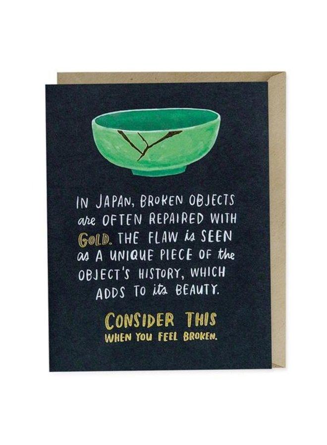 Broken Objects Sympathy Card