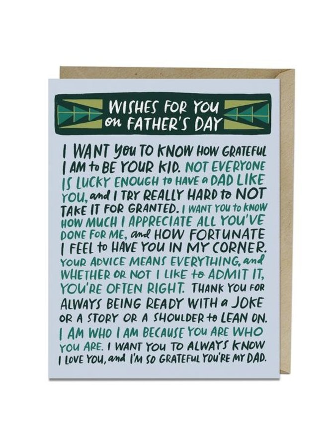 Best Wishes For Father Card