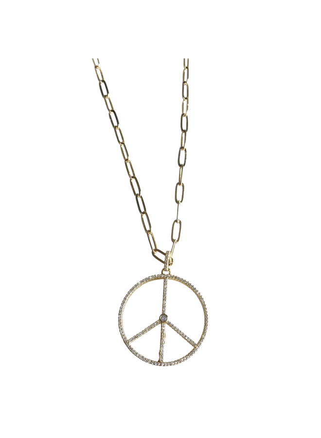 Large Peace Necklace