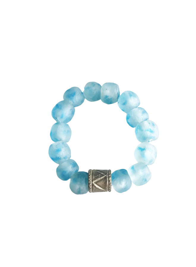 Ligt Blue Tie Dye Play Bracelet