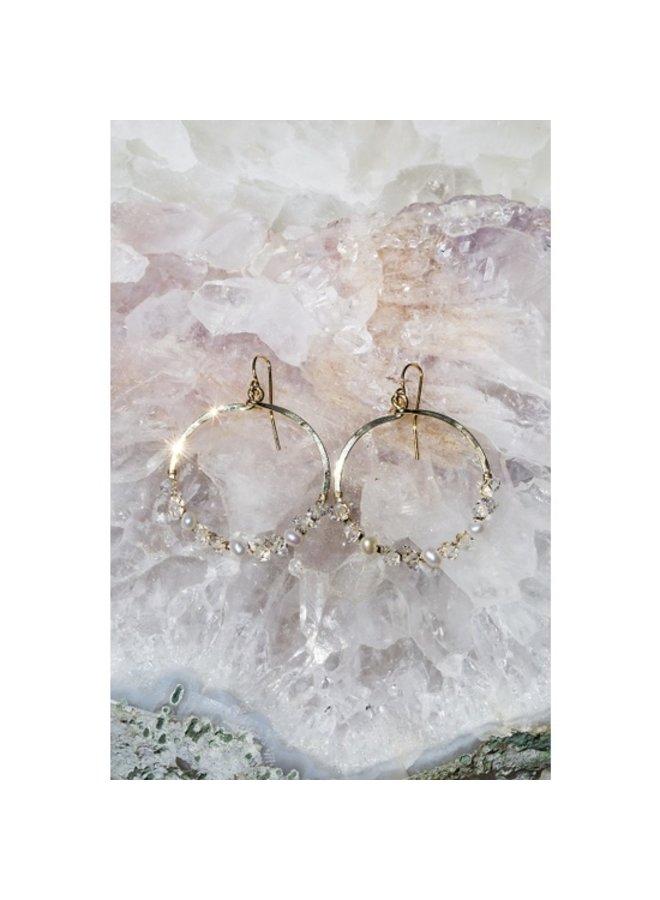 Fairydust Crystal Circle Earrings