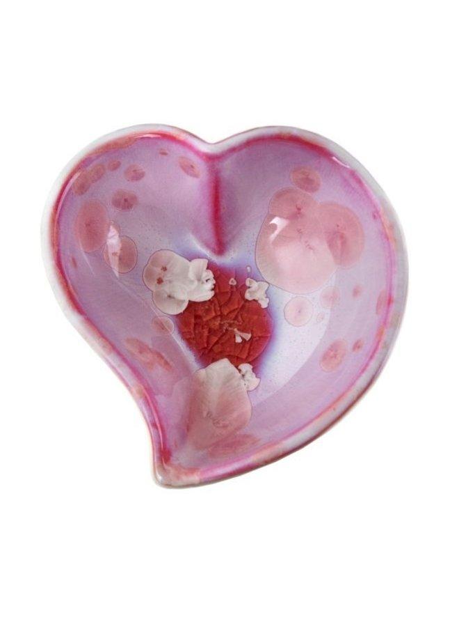 Crystalline Twist Heart Bowl - Rose