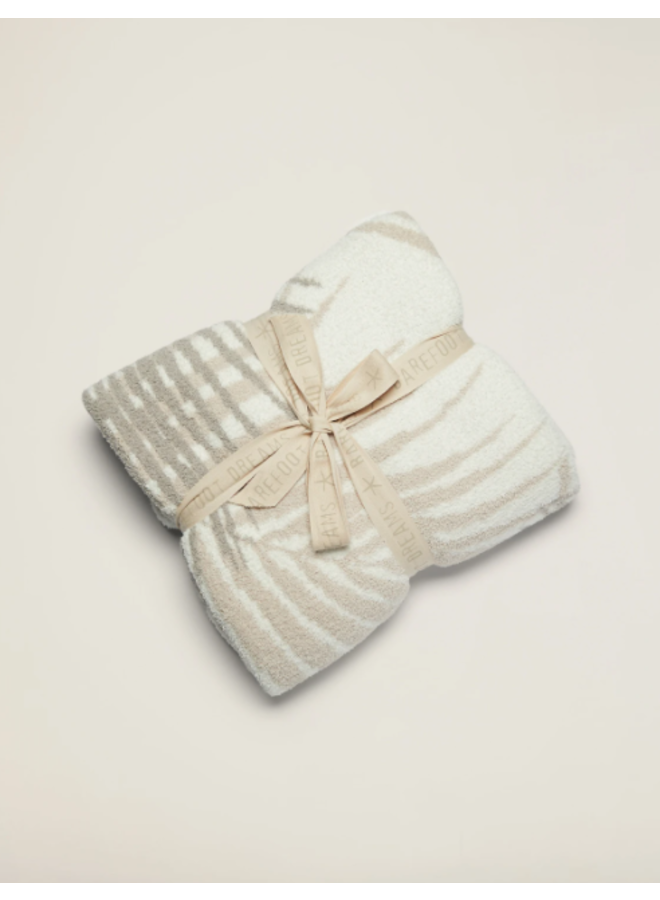 Cozychic Palm Leaf Blanket- Stone Multi