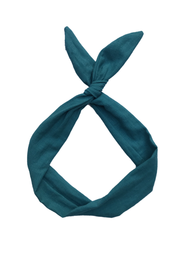 Byrd Headband - Teal Linen