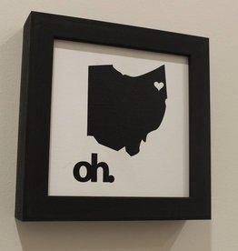 Petal Lane Mini State Of Ohio Magnet Board-Ebony