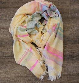 Vismaya Pineapple Pink Stripe Scarf