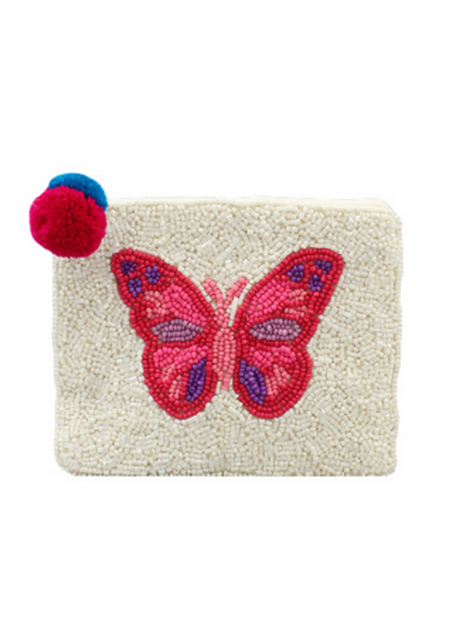 Butterly Beaded Clutch