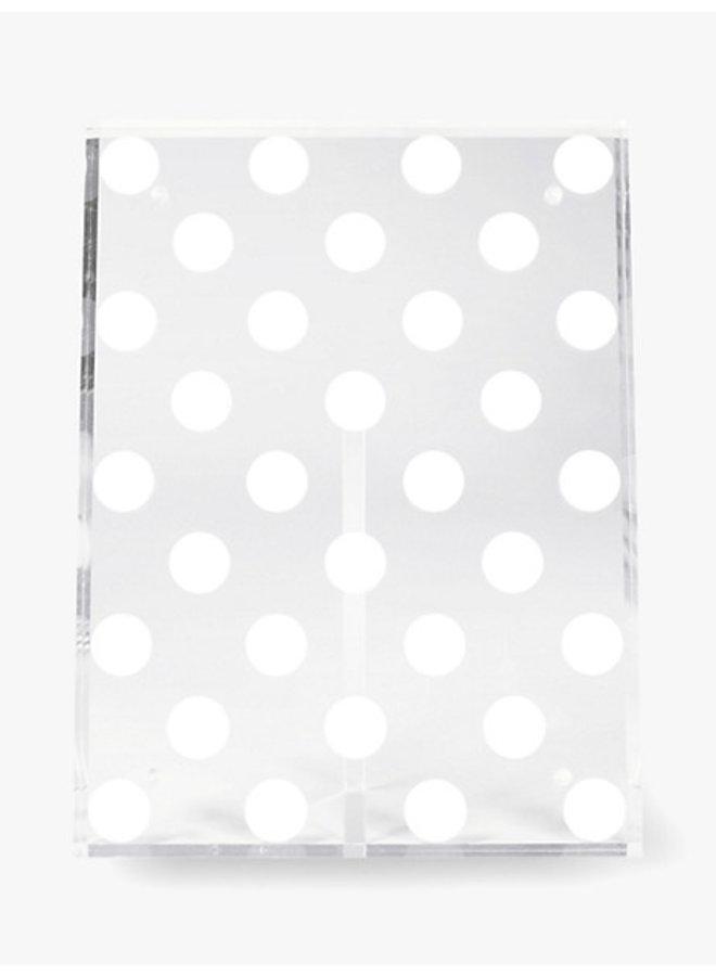 Acrylic Photo Frame - White Dot