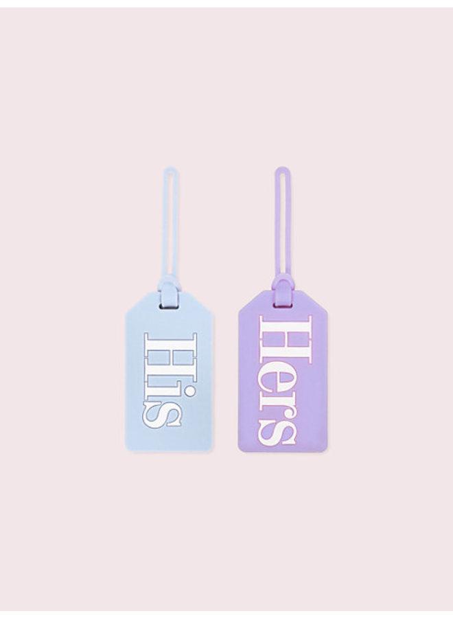Bridal Luggage Tag Set His & Hers