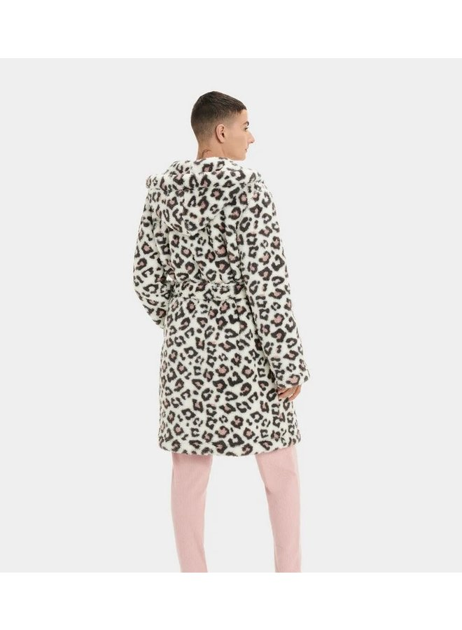 Aarti Plush Robe - Leopard